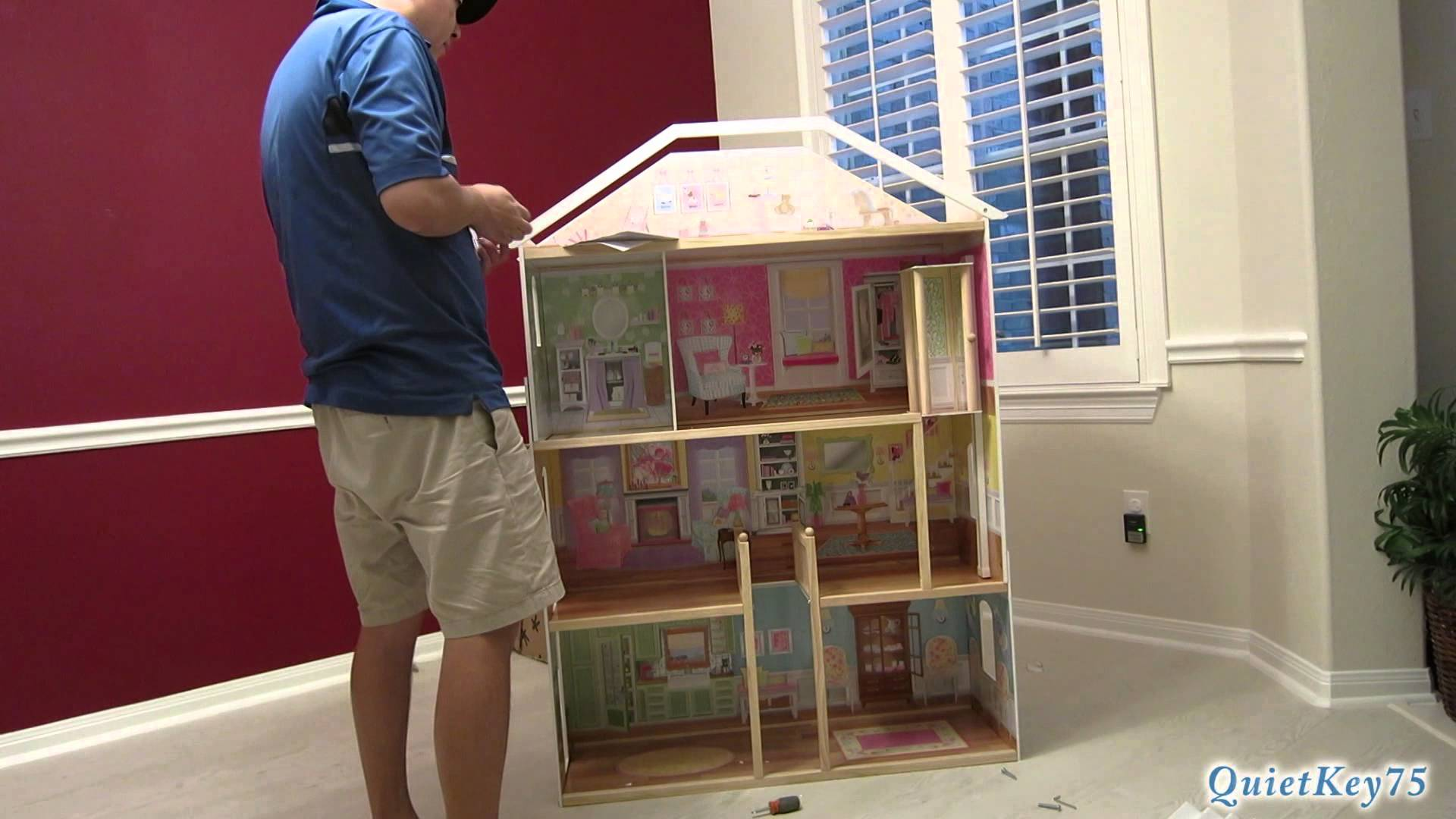 Awesome Kidkraft Dollhouse Made Of Wood In Triple Tier Design For Nursery Decor Ideas