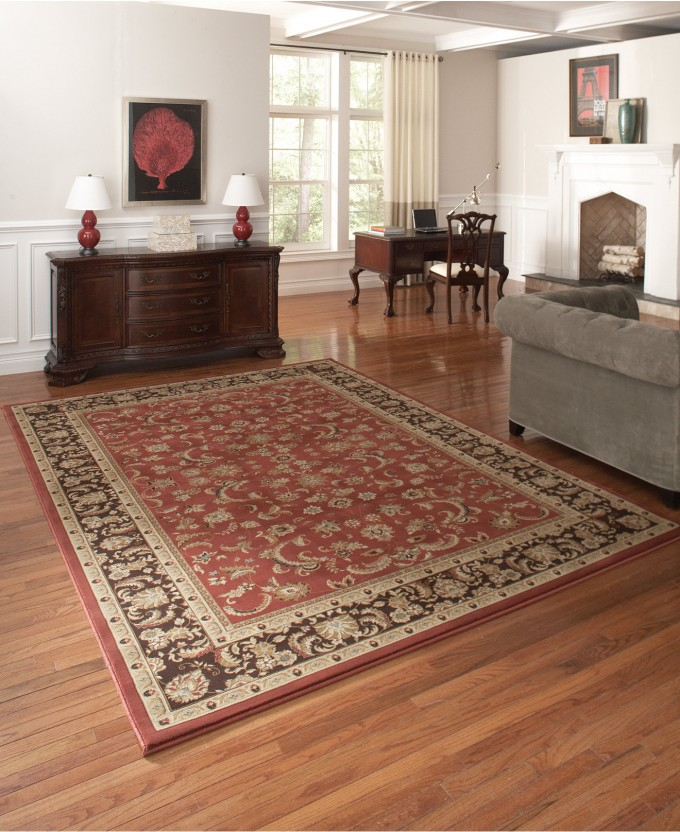 Awesome Large Loloi Rugs In Floral Pattern Plus Gray Sofa On Wooden Floor Which Matched With White Wall Plus Wooden Dresser For Living Room Decor Ideas