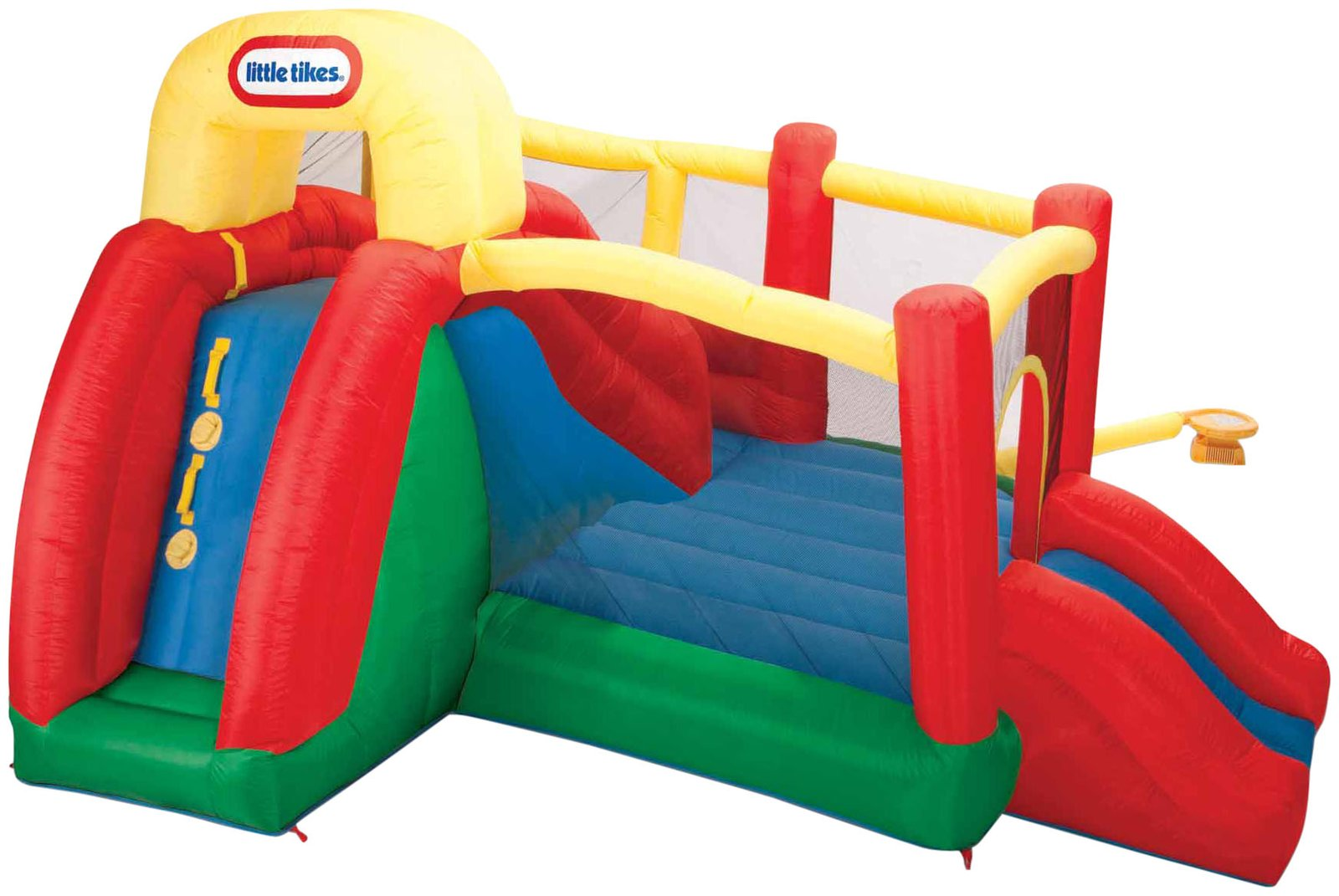 awesome little tikes bounce house made of caoutchouc with double slide for play yard ideas