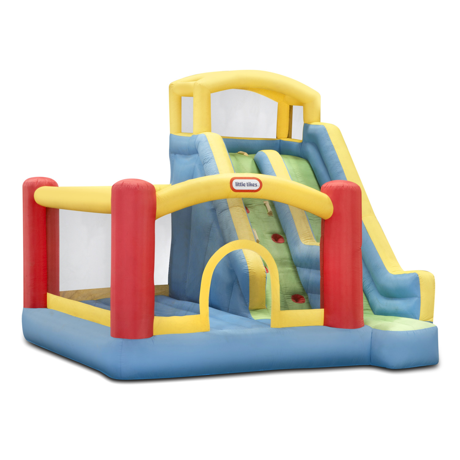 Awesome Little Tikes Bounce House Made Of Caoutchouc With Giant Slide For Play Yard Ideas