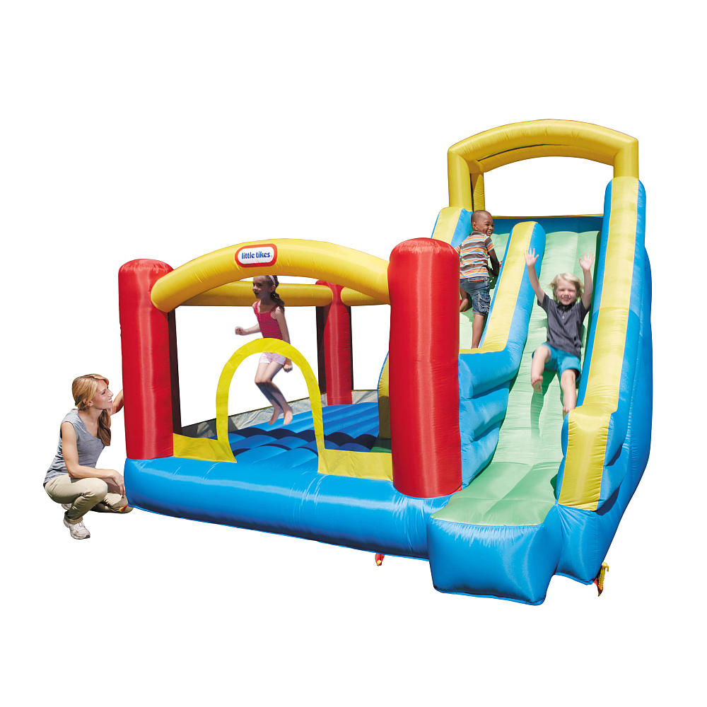 awesome little tikes bounce house with giant slide for play yard ideas