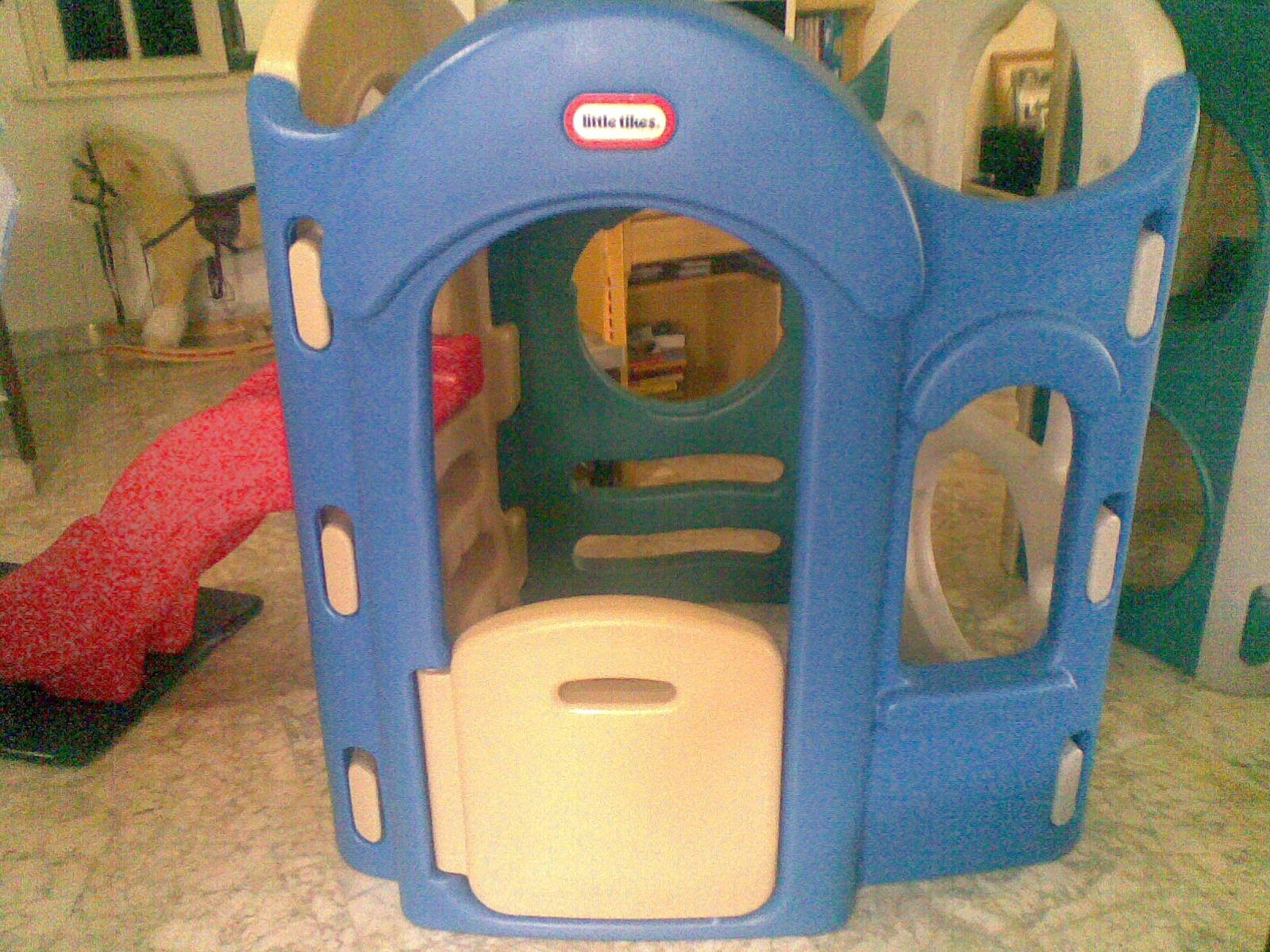 Awesome Little Tikes Playhouse With Red Slide For Chic Toy Ideas