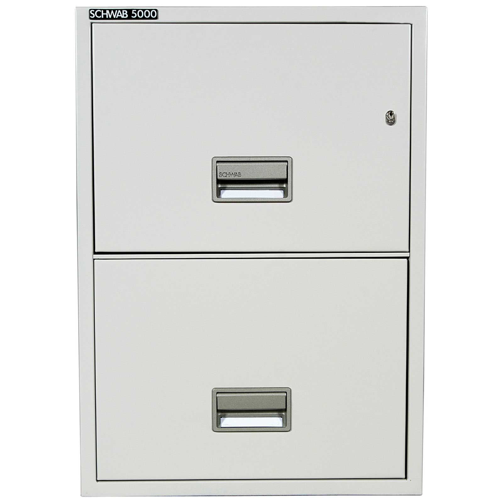 awesome metal fireproof file cabinet in white with silver handle and double drawers for home office furniture ideas
