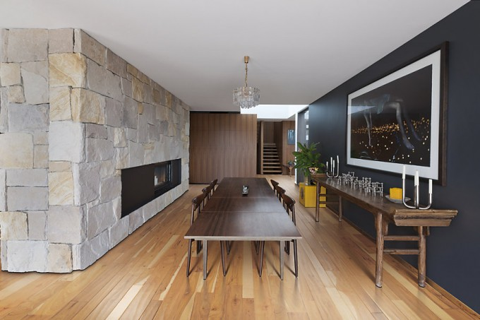 Awesome Mohawk Flooring Matched With Gray Wall Plus Unique Dining Table For Dining Room Decor Ideas