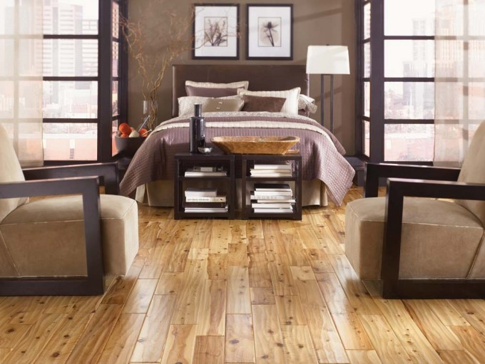 Awesome Mohawk Flooring Matched With Tan Wall Plus Bed For Bedroom Decor Ideas