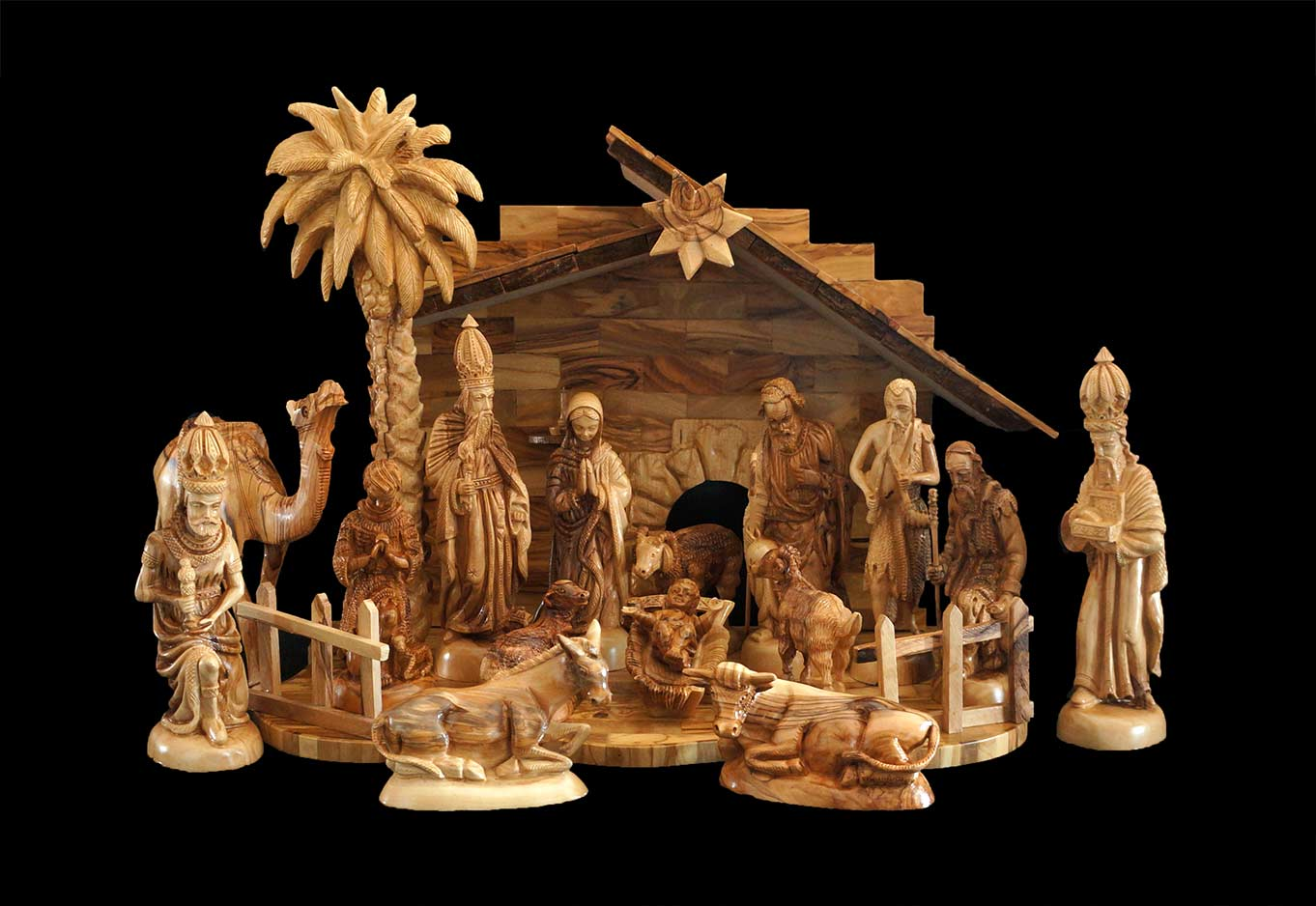awesome nativity sets in cream theme for christmas decoration ideas