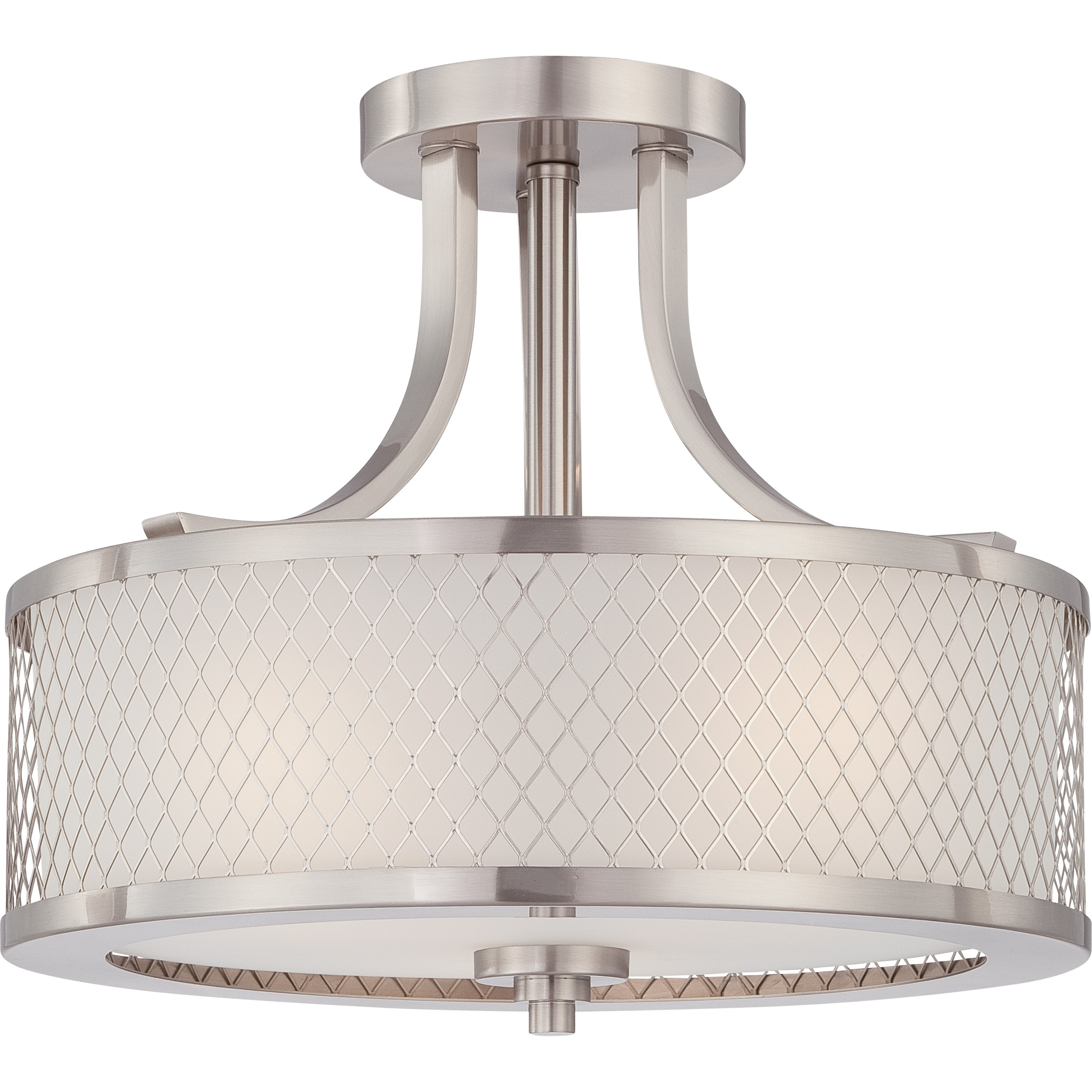 awesome nuvo lighting 3 Light Semi Flush Light Fixture for home lighting ideas