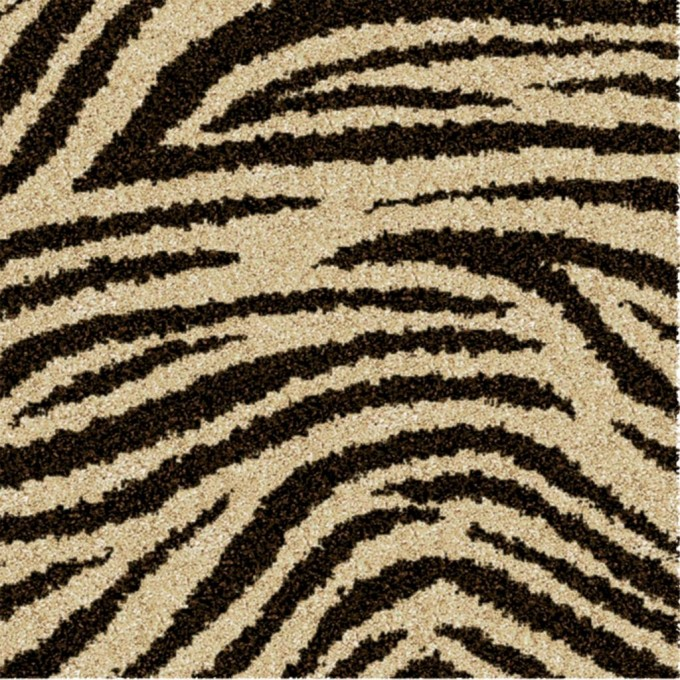 Awesome Orian Rugs In Black And Beige Zebra Motif For Floor Decor Ideas