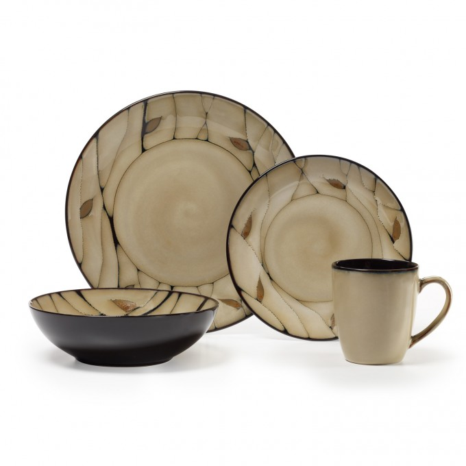 Awesome Pfaltzgraff Dinnerware In Cream With Leaf Pattern For Dinnerware Ideas