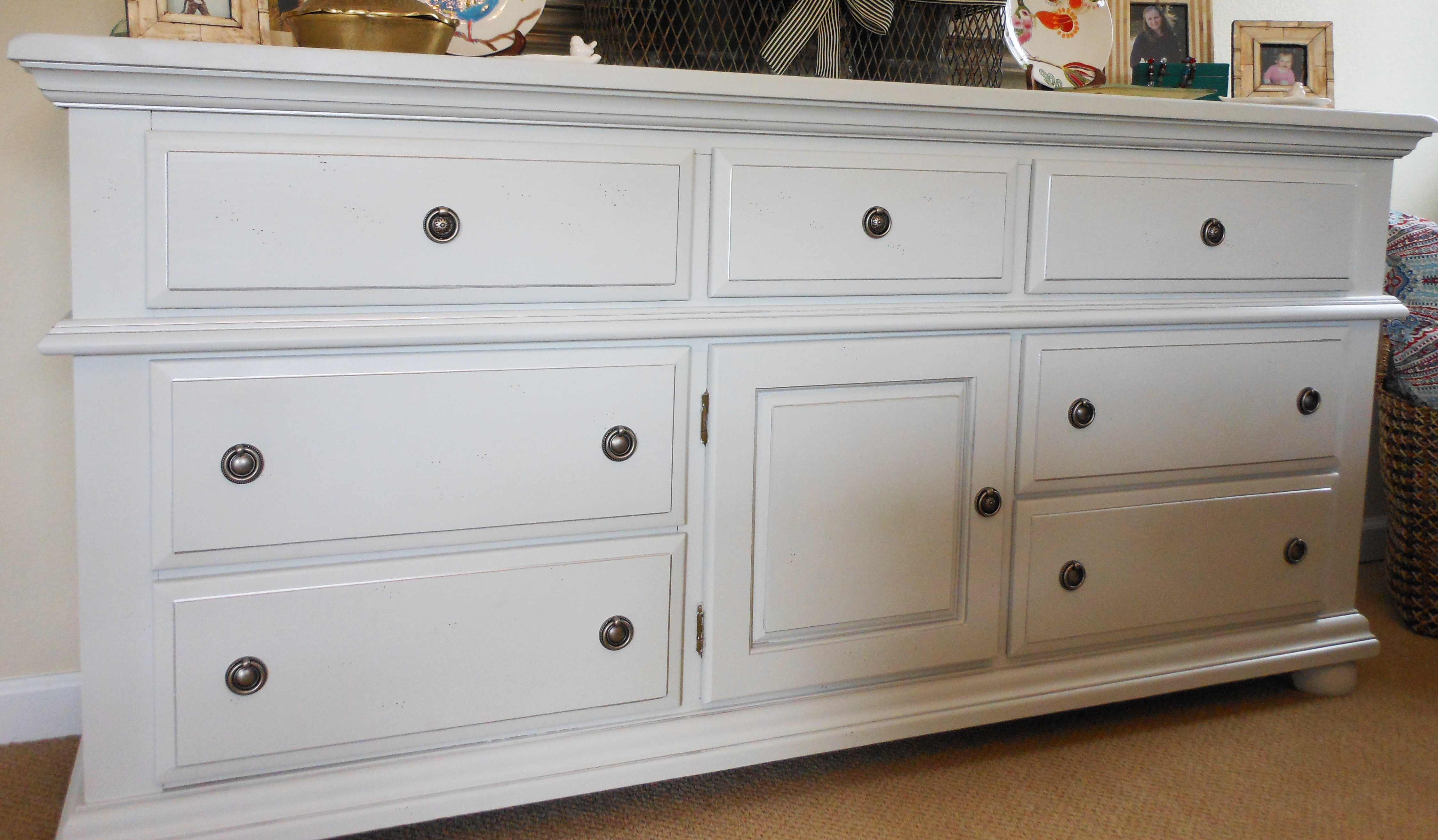 Awesome White Wooden Fontana Dresser By Broyhill Furniture For Home Furniture Ideas