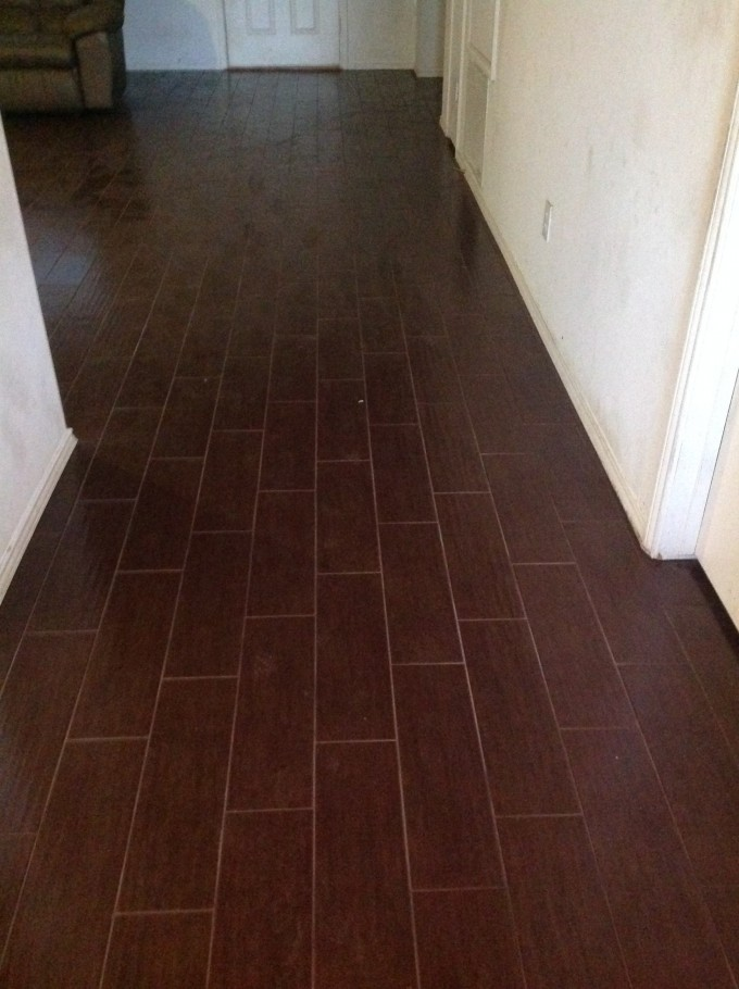 Awesome Wooden Floor In Brown By Interceramic Tile Matched With White Wall For Home Interior Design Ideas
