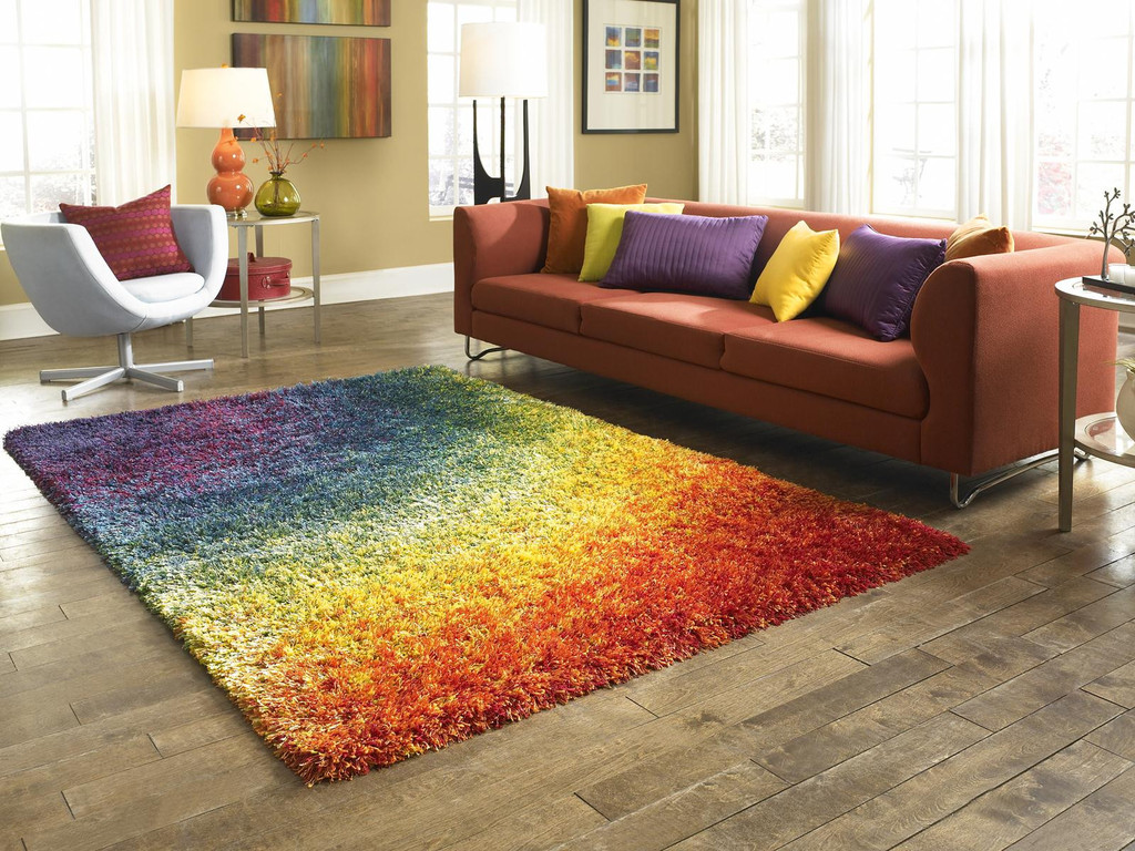 Barcelona Shag Contemporary Rainbow Living Dining Room Rug By loloi rugs for living room floor cover ideas