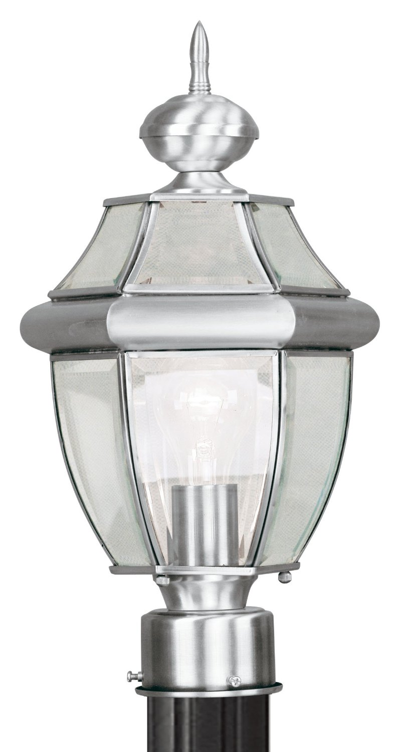 Wonderful Livex Lighting For Home Lighting Ideas: Beautiful Livex Lighting 2354 91 Monterey 3 Light Outdoor Brushed Nickel For Home Lighting Ideas