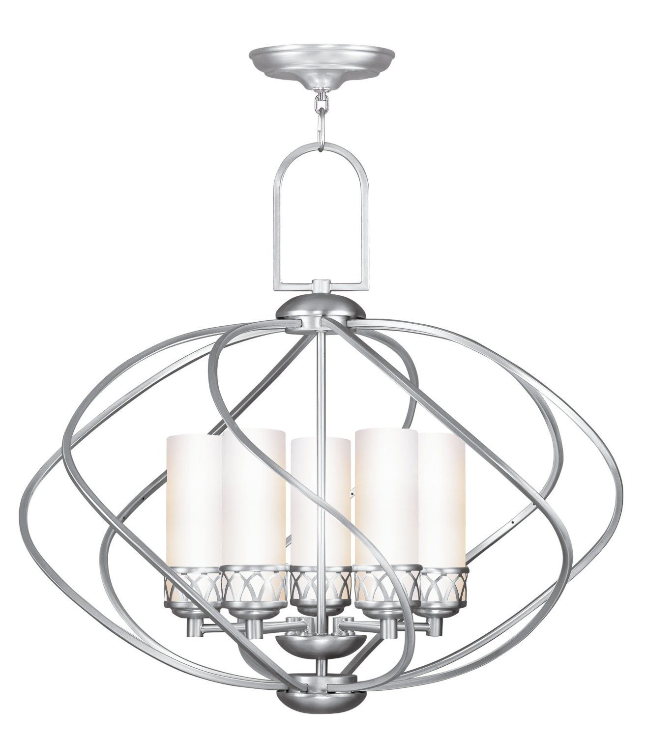 beautiful Livex Lighting 4725 91 Chandelier with Hand Blown Satin White for home lighting ideas