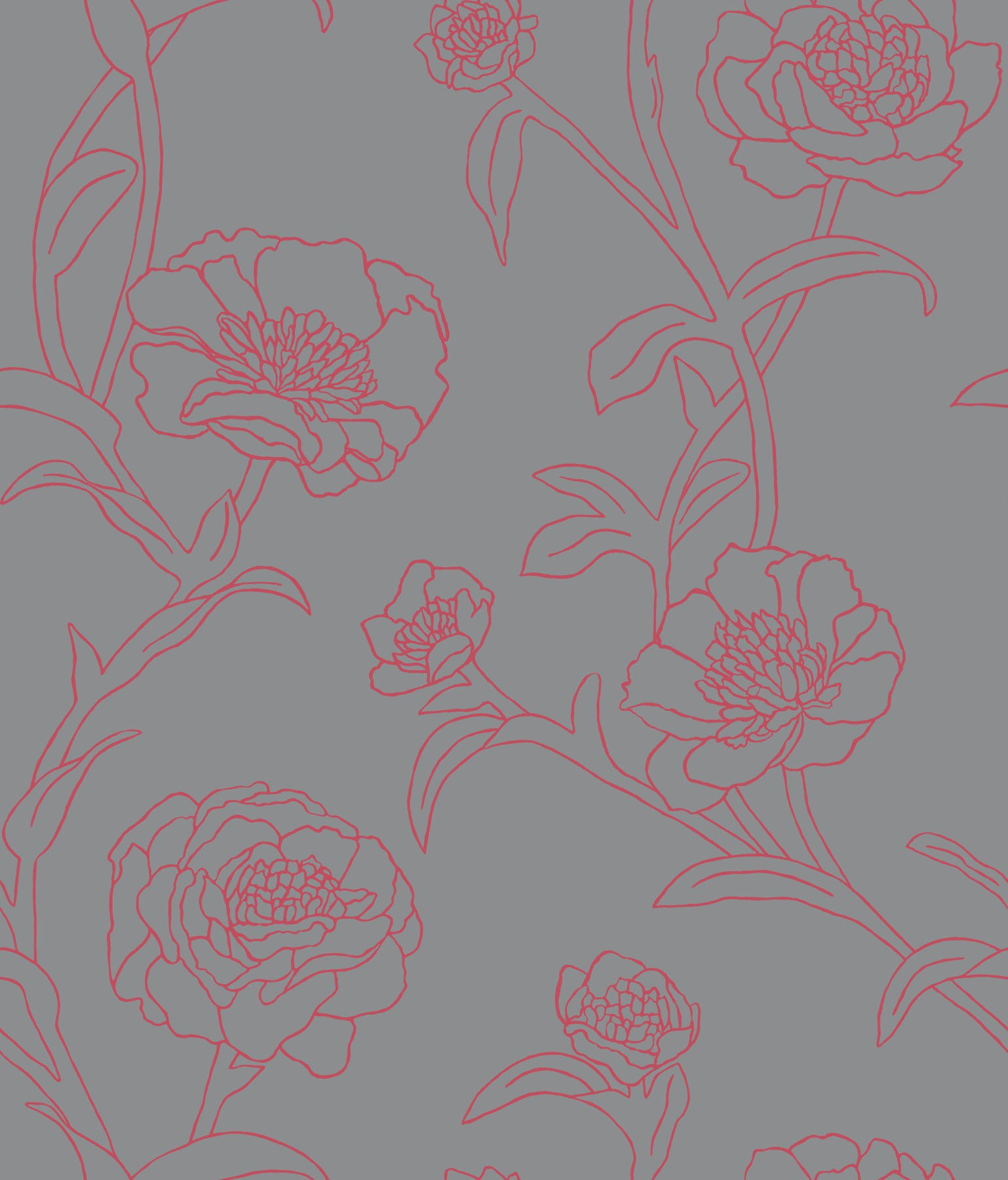 beautiful Peonies Temporary Wallpaper Rouge by Tempaper Wallpaper for wall decor ideas