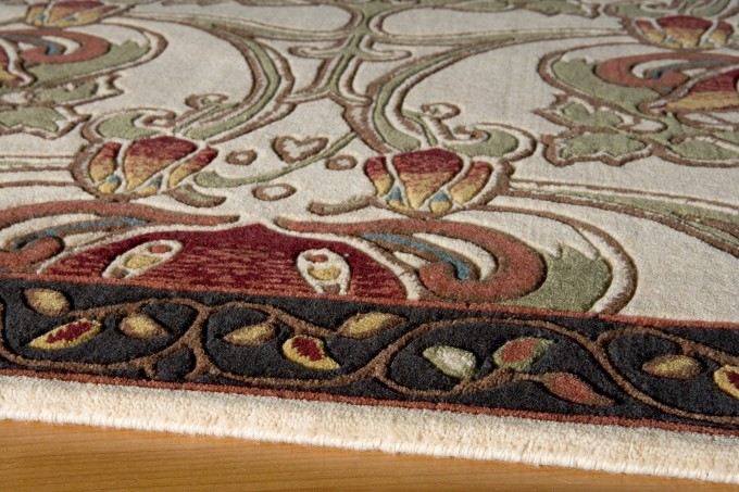 Beautiful Rug With Floral Pattern By Momeni Rugs For Floor Decor Ideas