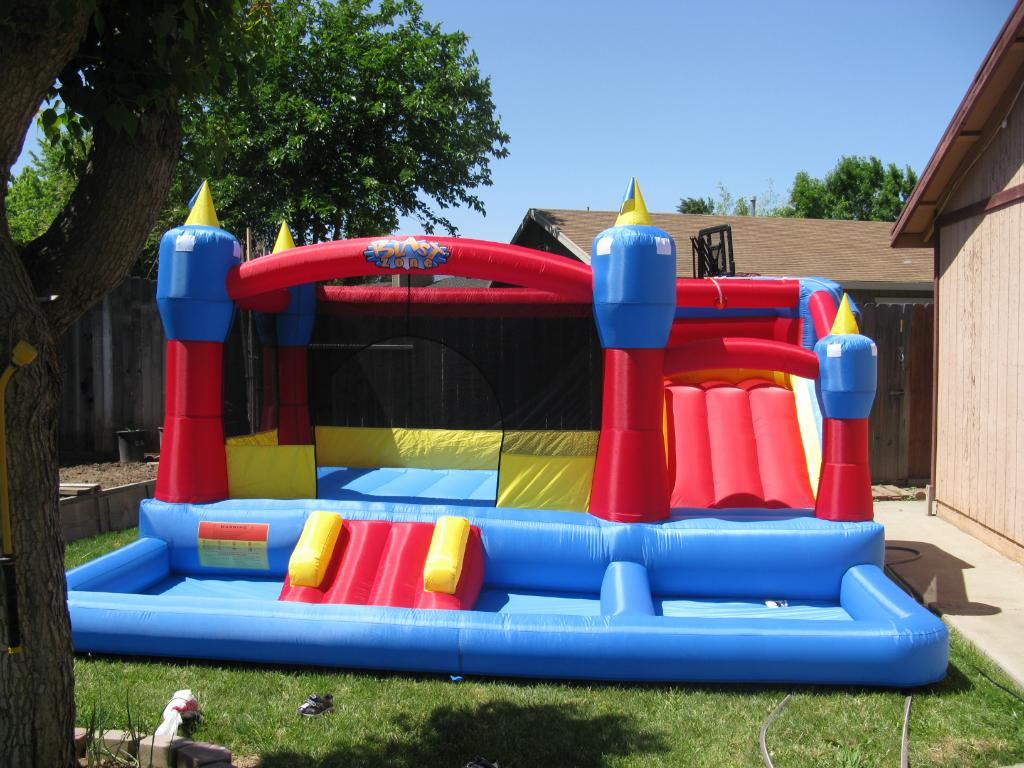 Blast Zone Misty Kingdom little tikes bounce house made of caoutchouc for play yard ideas