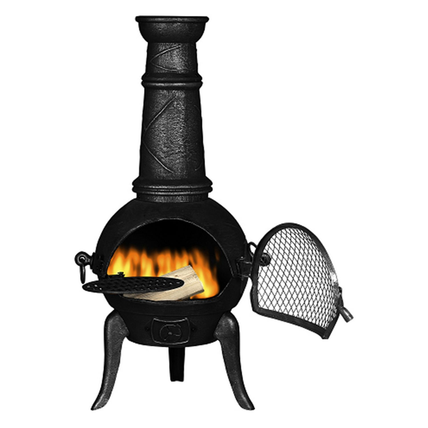 Cast Iron Chiminea Fireplace For Outdoor Fireplace Ideas