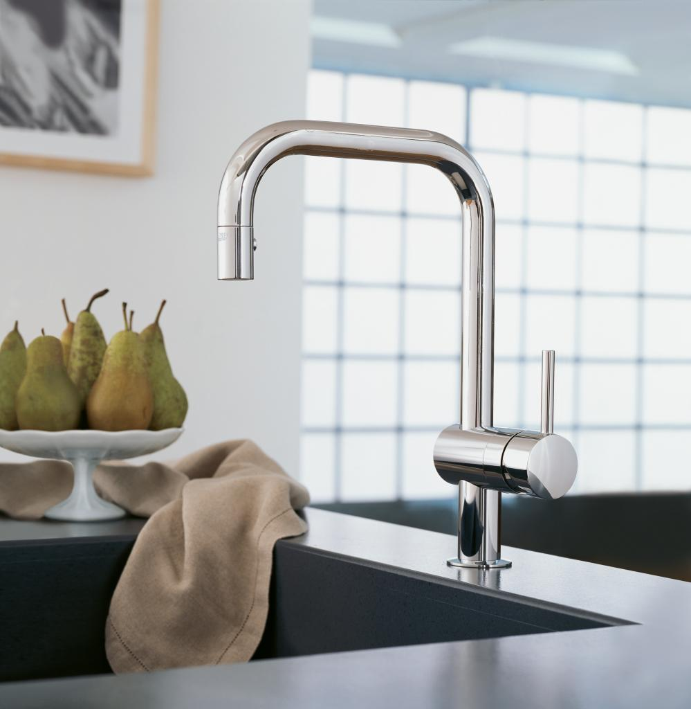 charming 32319000 Minta Dual Spray Pull Down Kitchen Faucet by grohe faucets for kitchen decor ideas