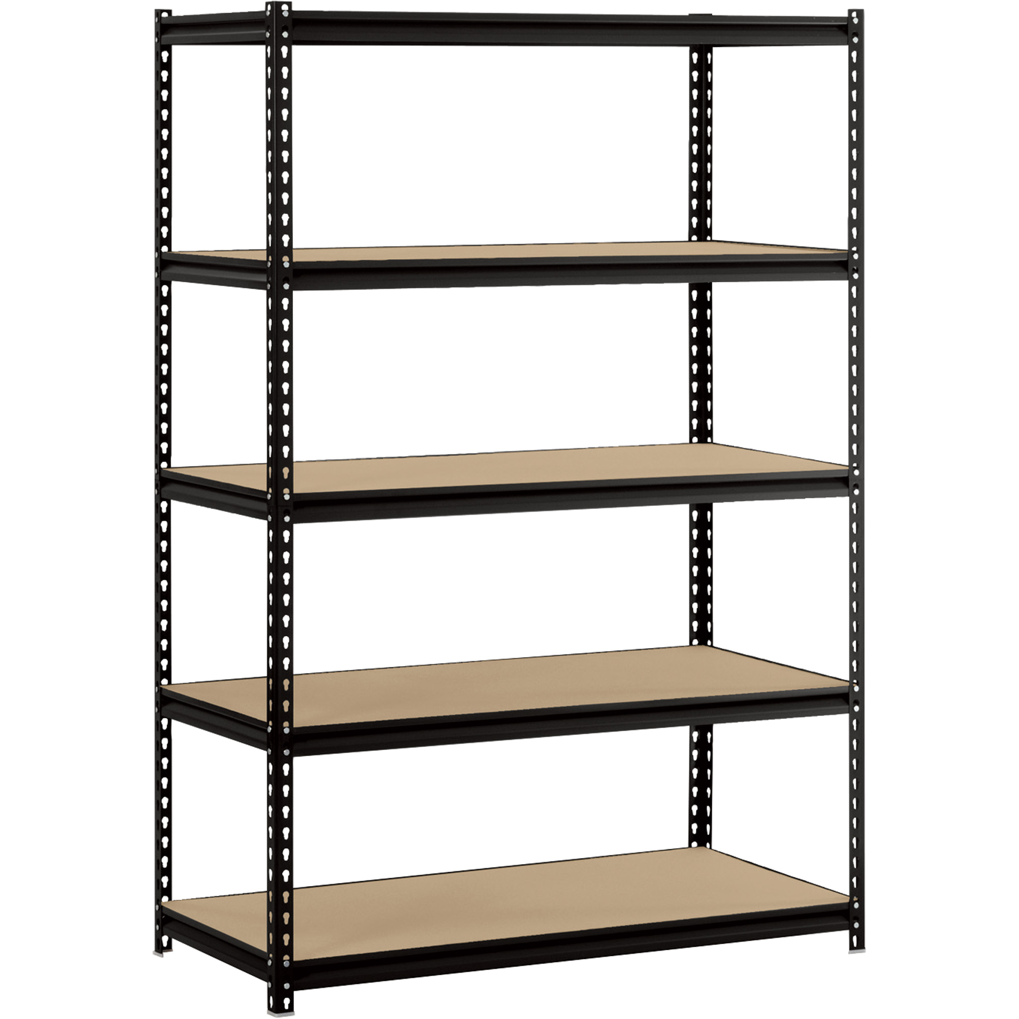 charming black edsal shelving in five tier design made of iron for home furniture ideas