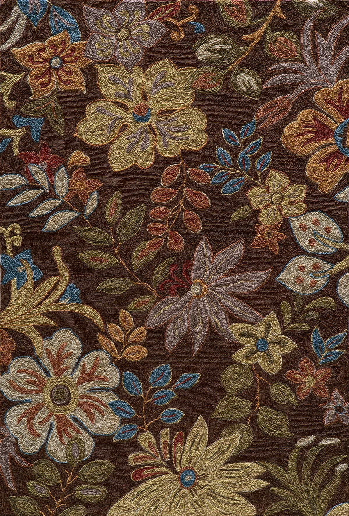 charming brown floral momeni rugs for floor decor ideas