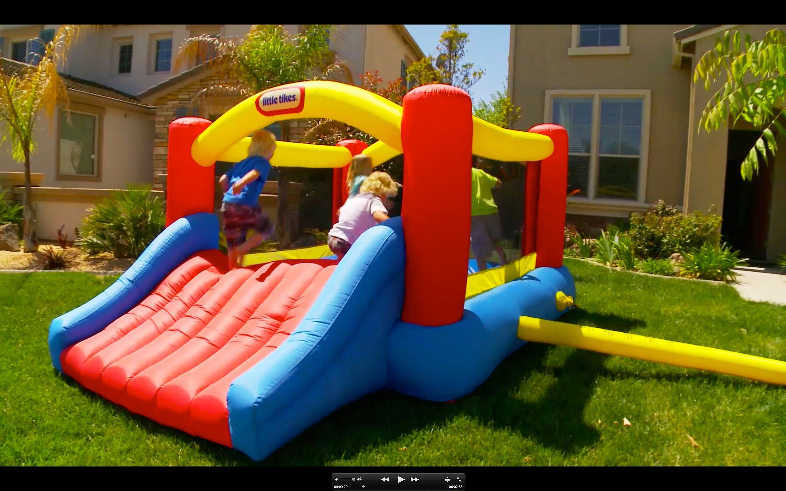 Charming Colorful Little Tikes Bounce House Made Of Caoutchouc With Slide For Play Yard Ideas