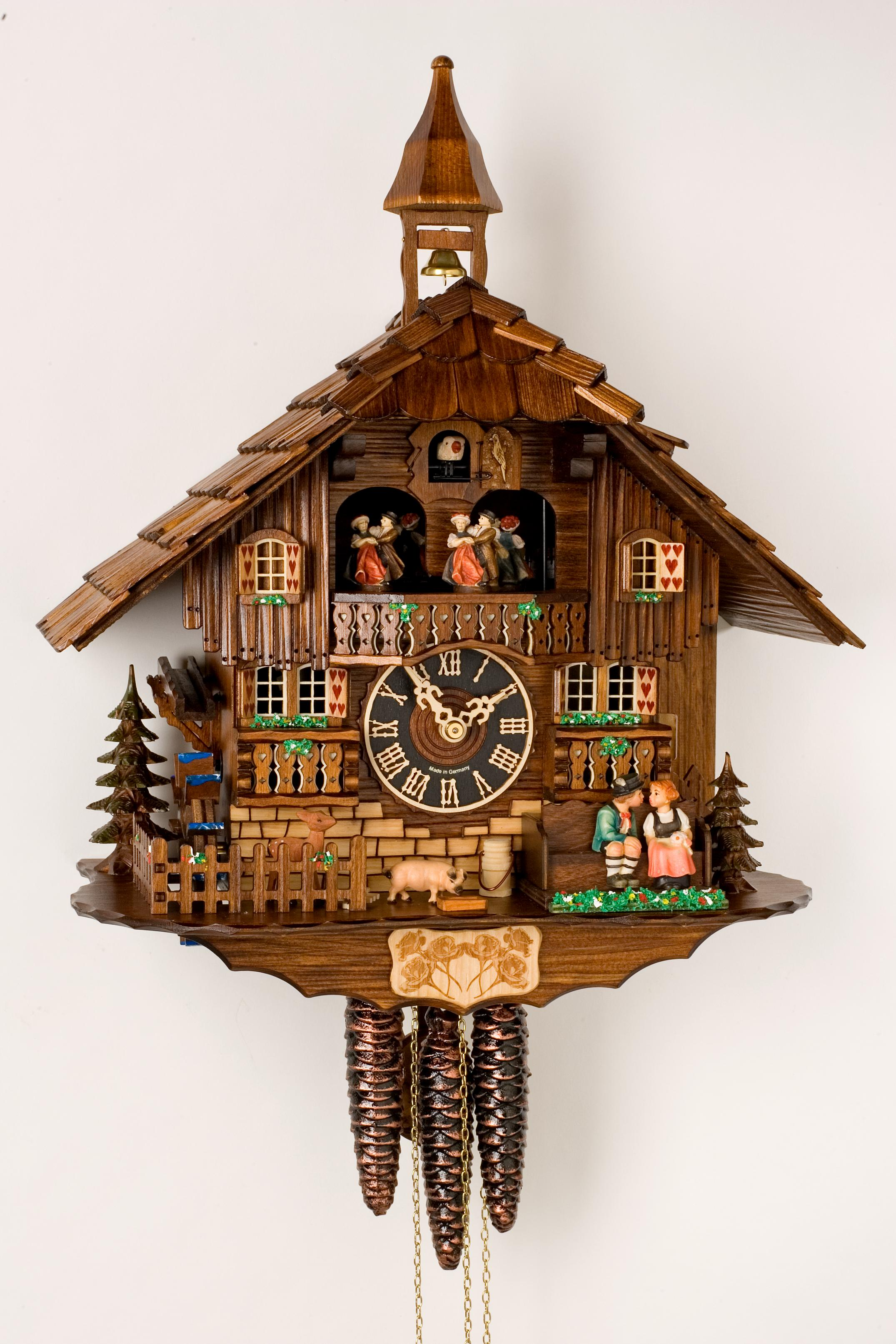 charming cuckoo clock made of wood in chocolate for home accessories ideas