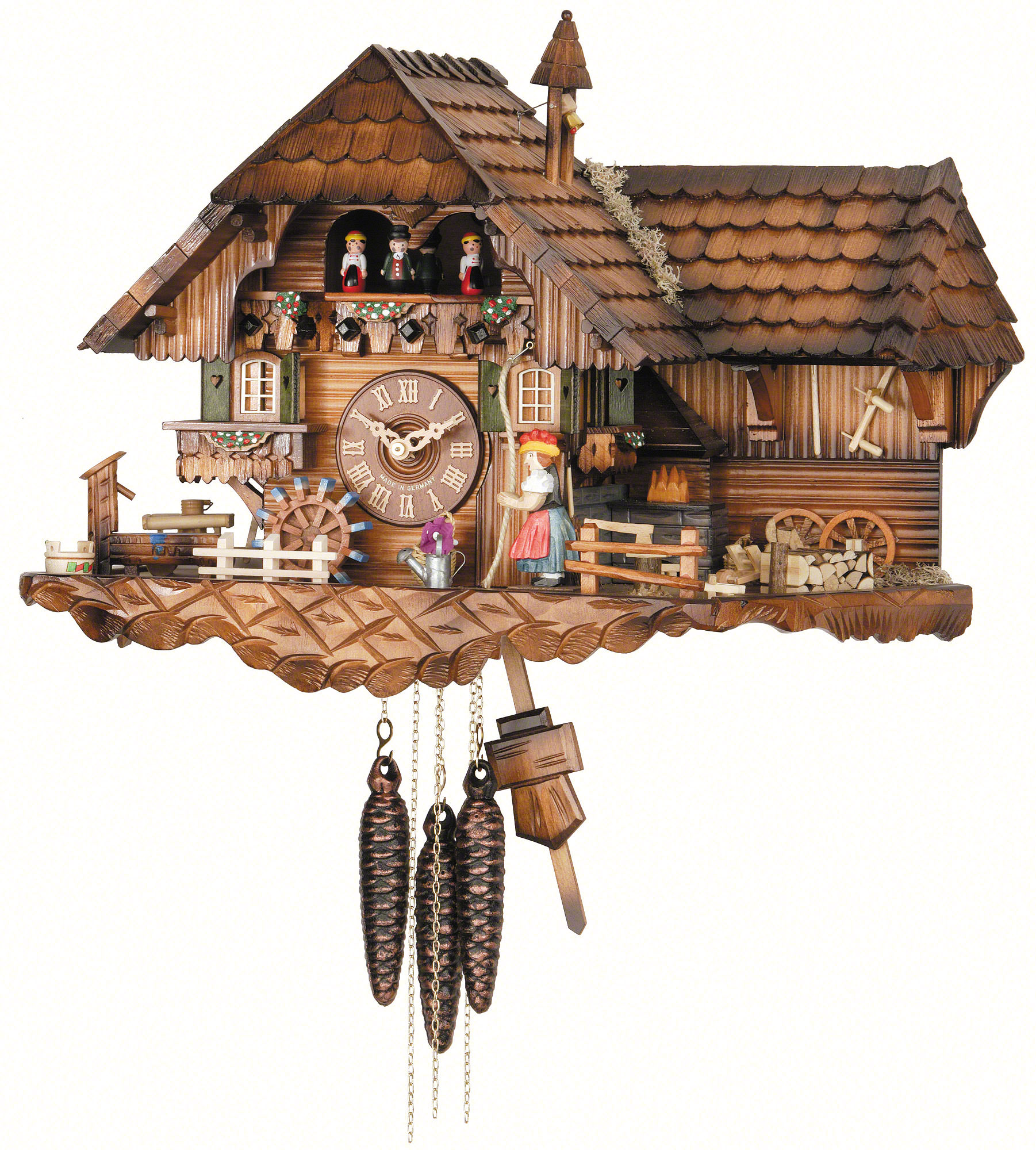 charming cuckoo clock made of wood with home design for home accessories ideas