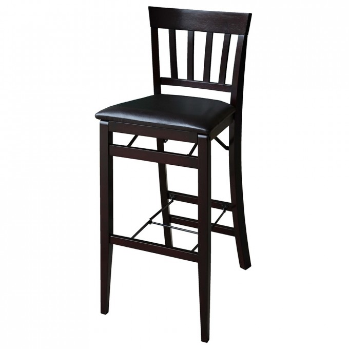 Charming Cymax Bar Stools In Brown With Black Leather Seat For Home Furniture Ideas
