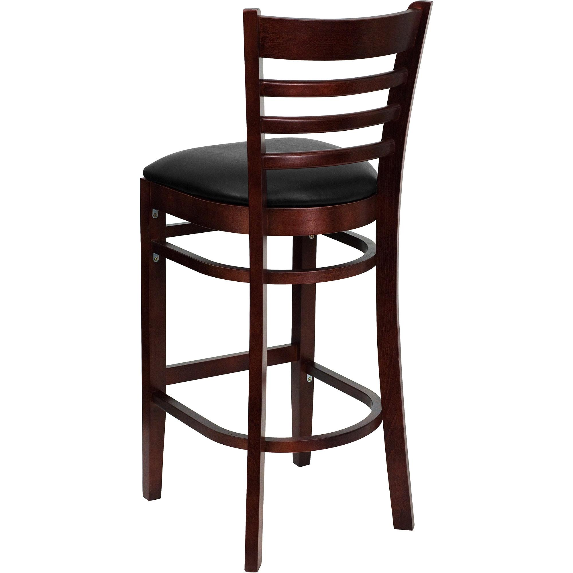 Furniture Charming Wooden Cymax Bar Stools In Dark Brown For Home