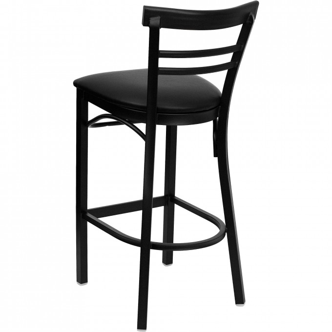 Charming Cymax Bar Stools In Solid Black For Home Furniture Ideas