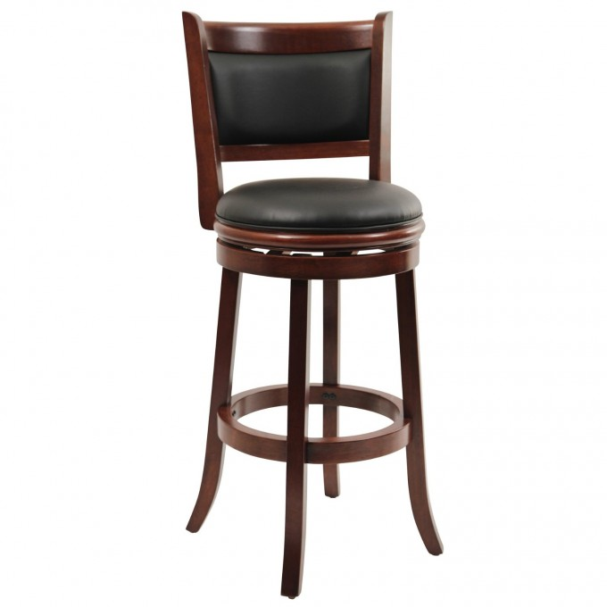 Charming Cymax Bar Stools With Black Leather Seat And Back For Inspiring Furniture Ideas