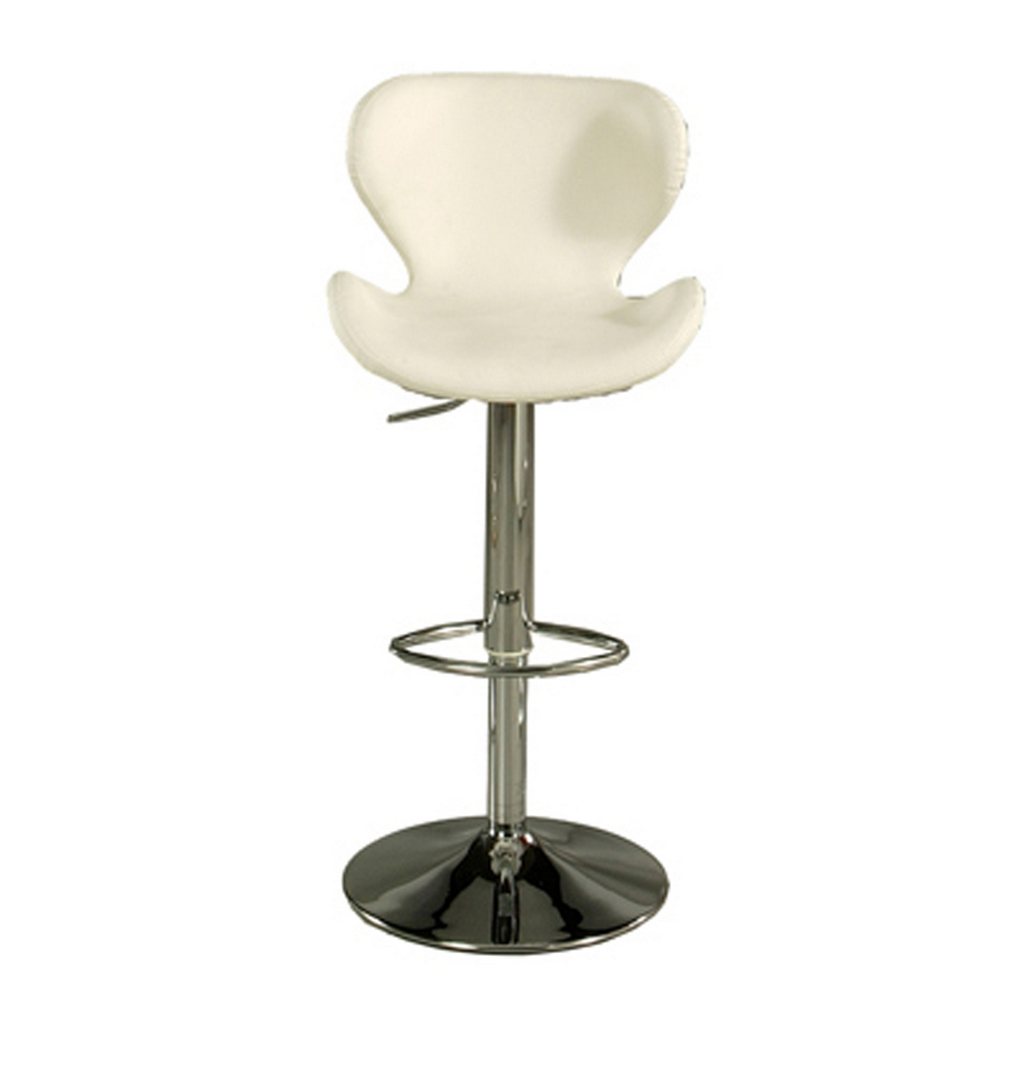 charming cymax bar stools with white seat and back plus single metal leg for home furniture ideas