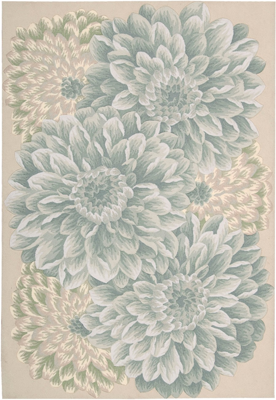 charming Fantasy Light Green FA10 floral pattern rug by nourison rugs for floor decor ideas