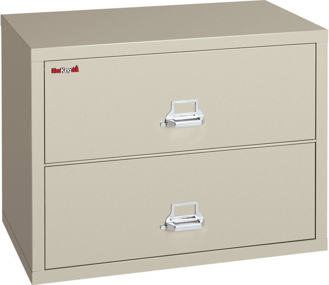 Charming Fireproof File Cabinet With Double Drawers And Silver Handle For Home Office Furniture Ideas