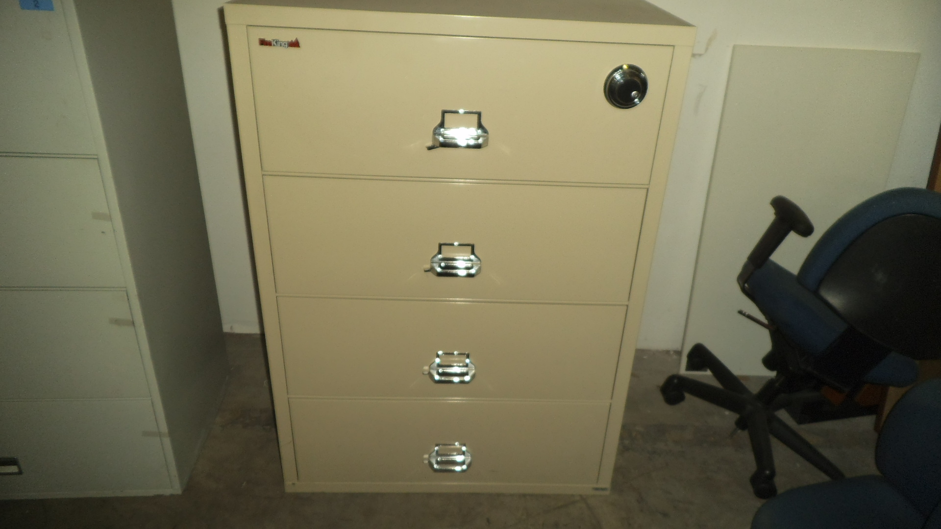 charming fireproof file cabinet with silver handle and four drawers for home office furniture ideas