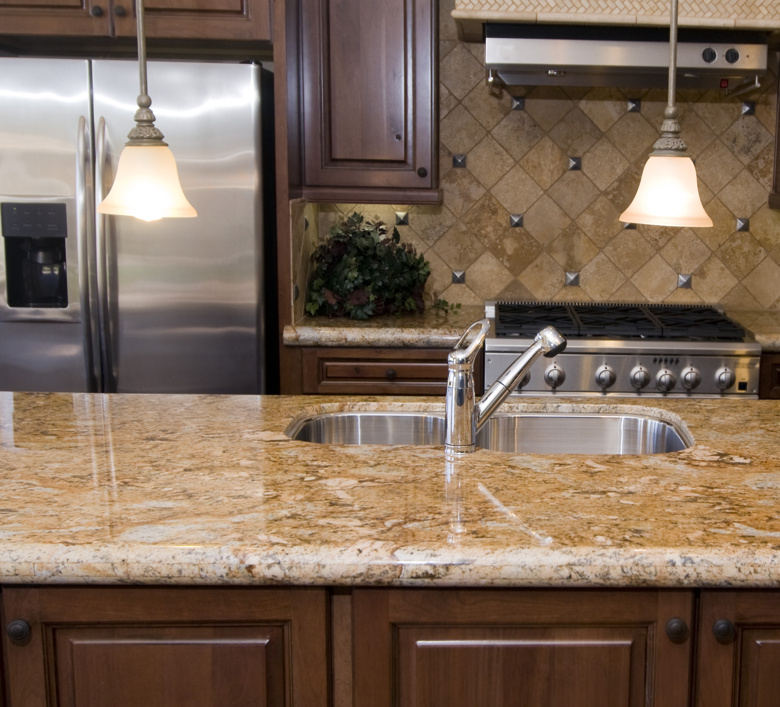Charming Kitchen Island With Wilsonart Laminate Countertops And Sin Plus Faucet For Kitchen Decor Ideas