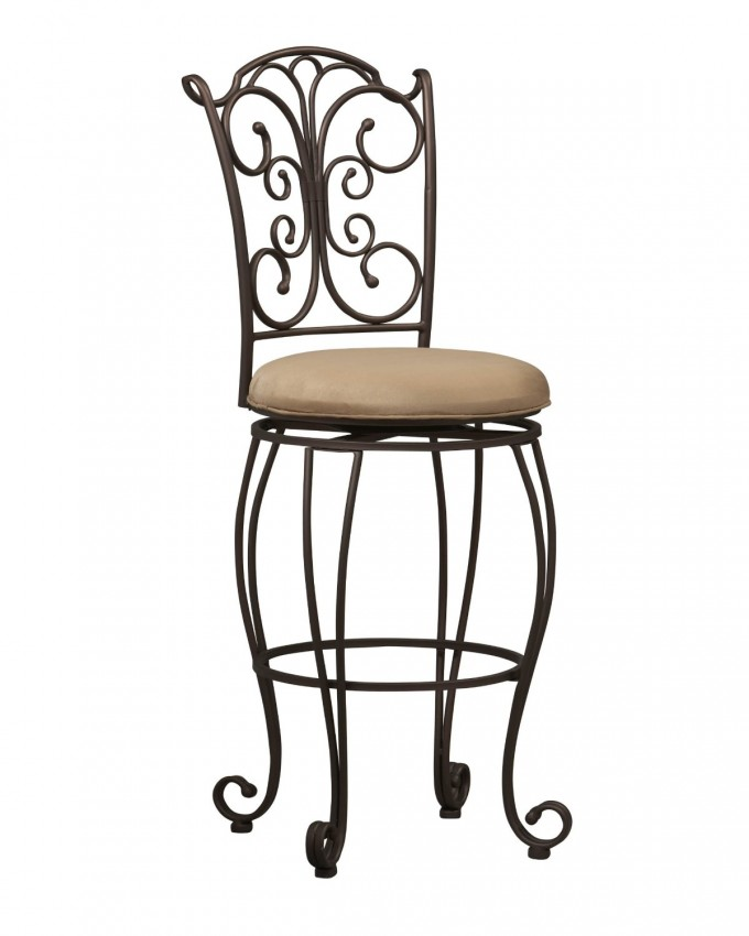 Charming Linon Gathered Back Bar Stool By Cymax Bar Stools For Home Furniture Ideas