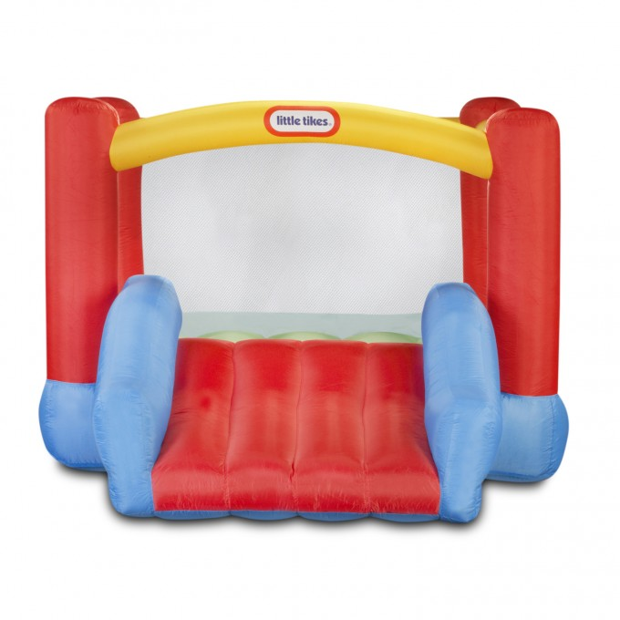 Charming Little Tikes Bounce House Made Of Caoutchouc With A Slide For Kids Play Room Ideas