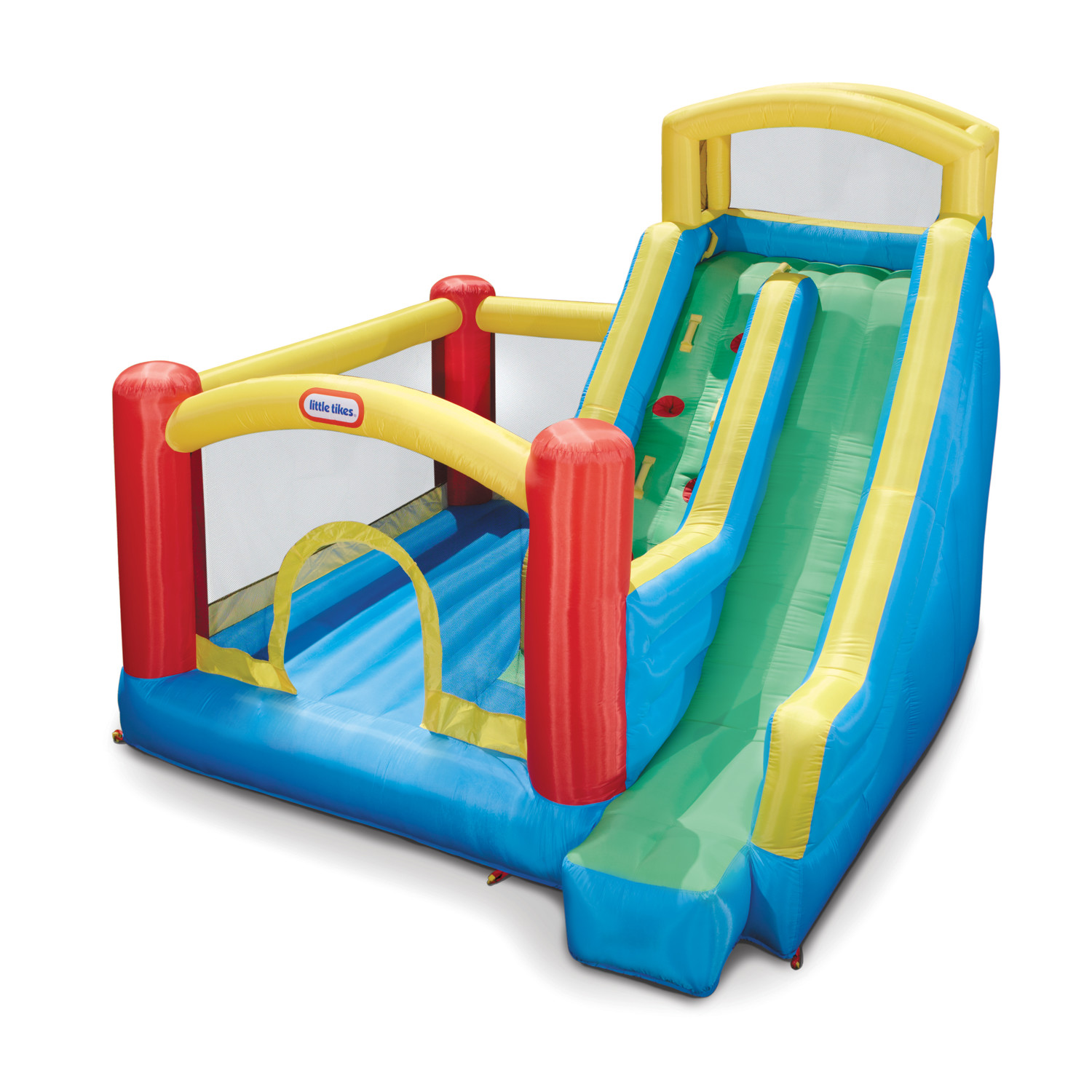 Charming Little Tikes Bounce House Made Of Caoutchouc With Giant Slide For Play Yard Ideas