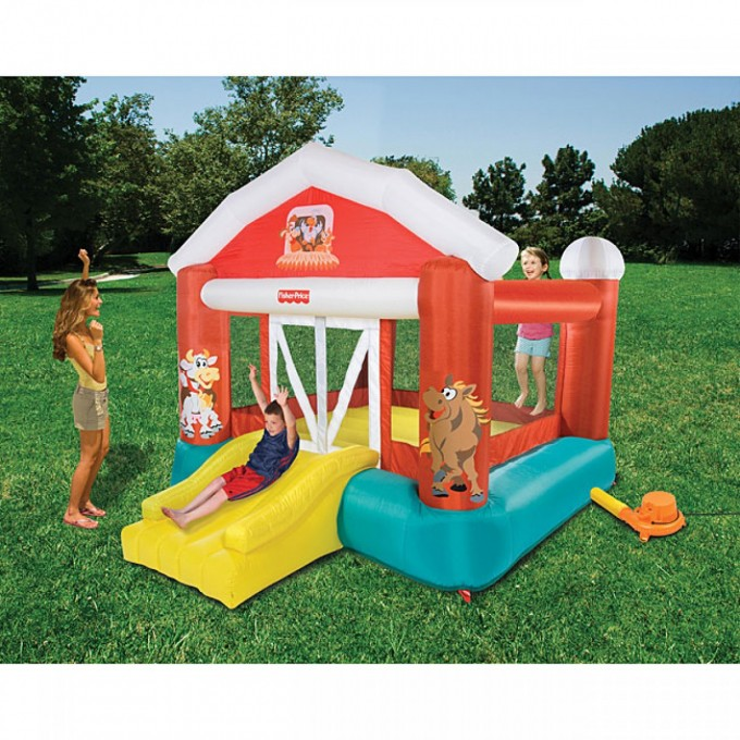 Charming Little Tikes Bounce House Made Of Caoutchouc With House Design For Play Yard Ideas