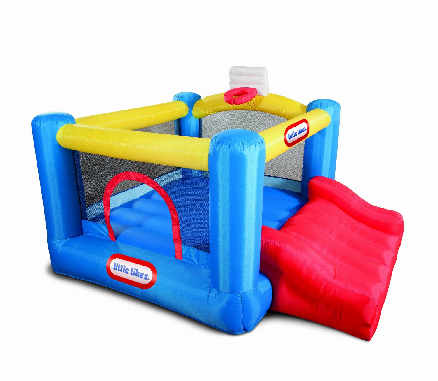 Charming Little Tikes Bounce House Made Of Caoutchouc With Red Jump Slide For Play Yard Ideas