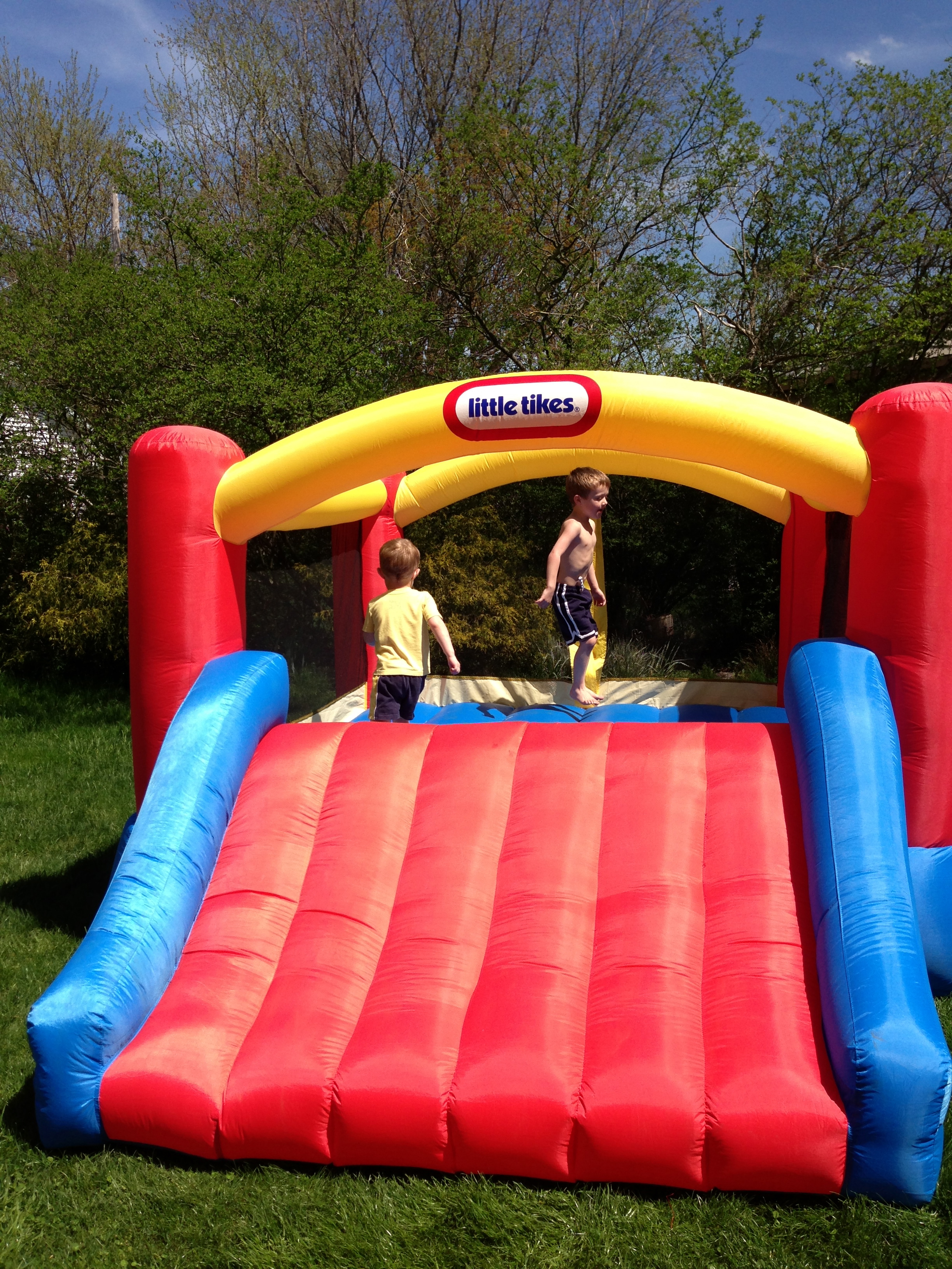 charming little tikes bounce house made of caoutchouc with slide for play yard ideas