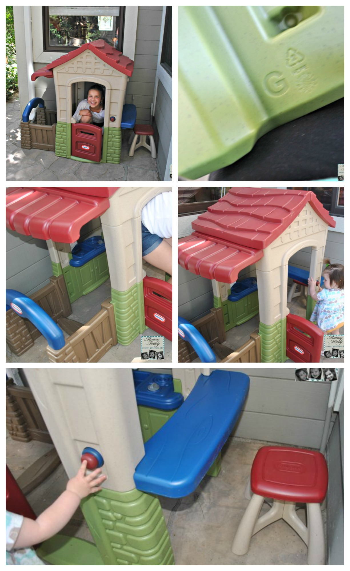 Charming Little Tikes Playhouse Made Of Plastic For Playground Decor Ideas