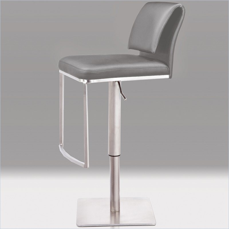 charming Neo 32inch Hydraulic Stool in Light Grey by cymax bar stools for home furniture ideas