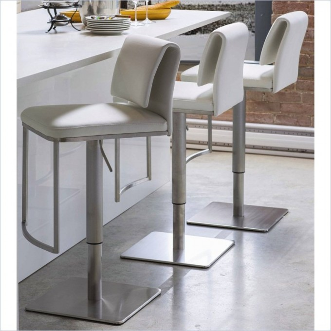 Charming Neo 32nch Hydraulic Stool In White By Cymax Bar Stools For Home Furniture Ideas