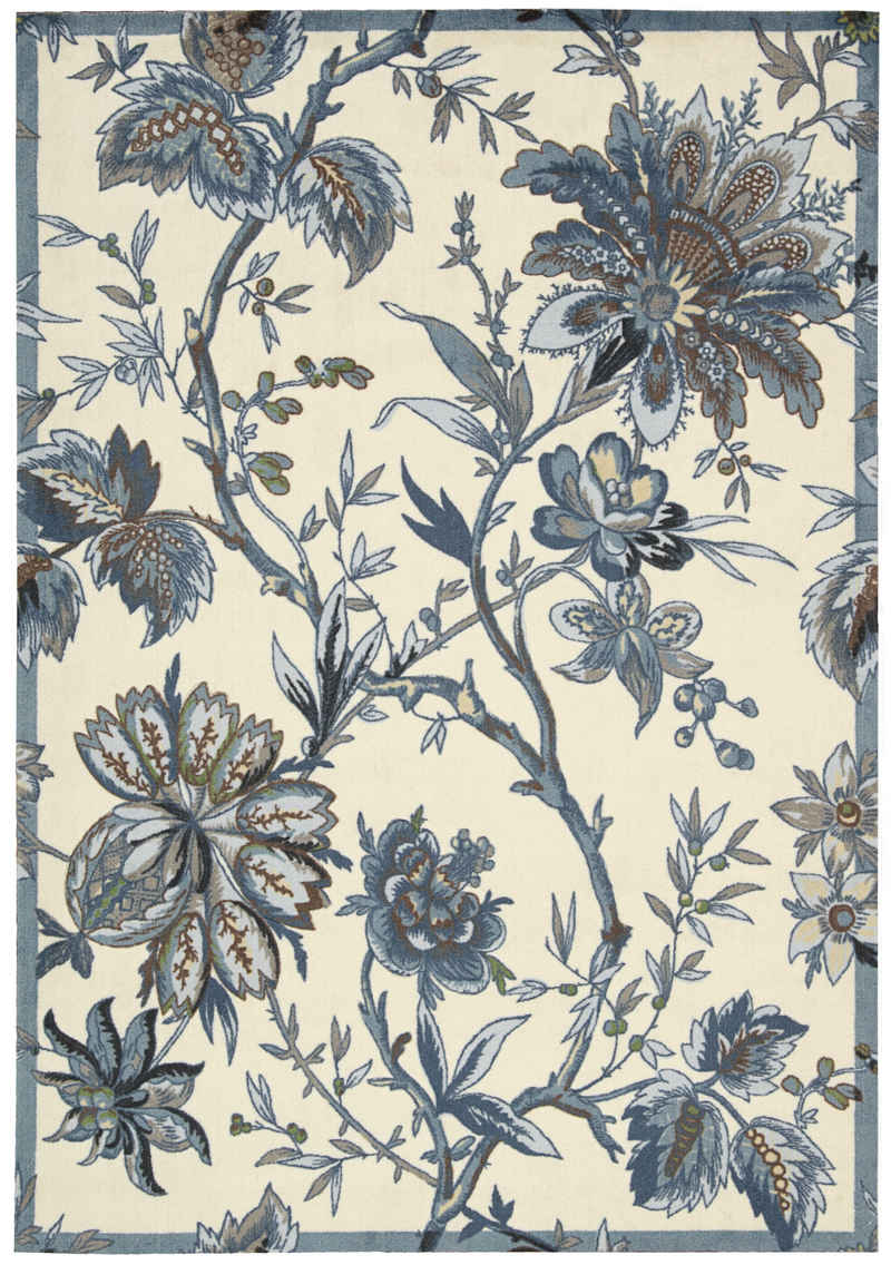 Charming Nourison Rugs Waverly Al Delight Wad06 Indigo Runner For Floor Decor Ideas