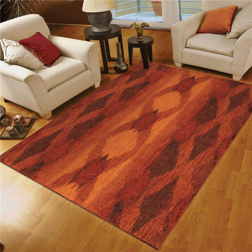 charming orian rugs in orange on wooden floor plus white sofa set for living room decor ideas