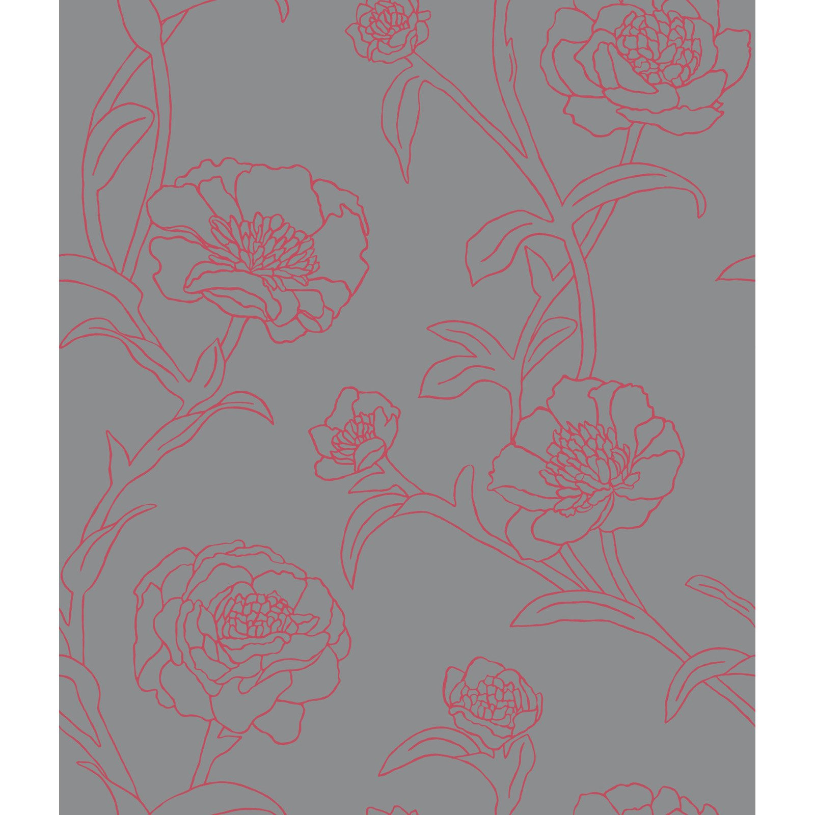 charming Peonies Self Adhesive Tempaper Wallpaper for cute wallpaper ideas