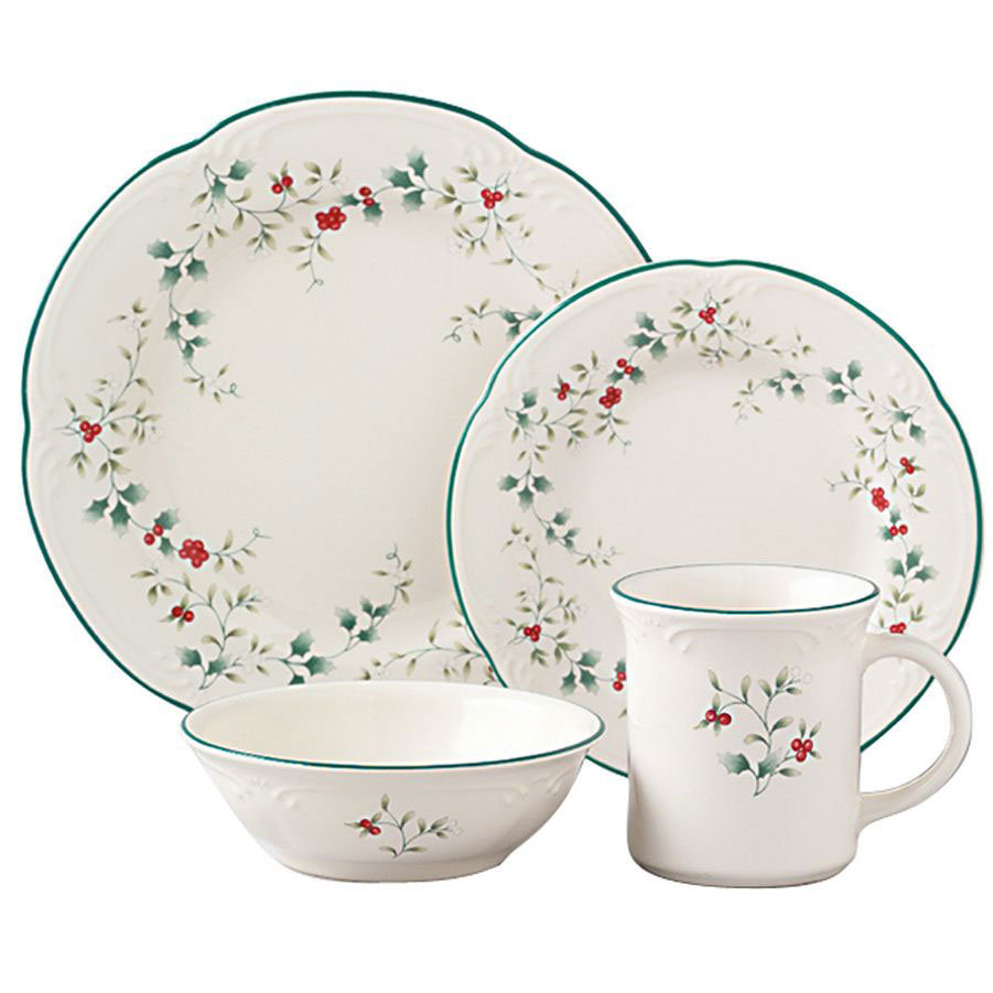 charming Pfaltzgraff Winterberry Dinnerware in white and floral pattern for dinnerware ideas